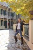 时髦的秋天在雅典 库存照片