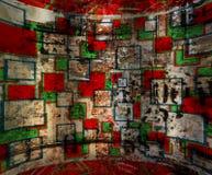 时髦的脏的墙壁 免版税库存图片
