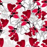 时髦的花卉无缝的模式 库存图片