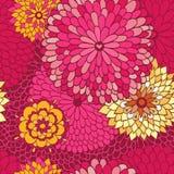 时髦的花卉背景 库存图片