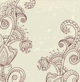 时髦的花卉背景 免版税库存图片