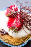 时髦的草莓蛋糕 免版税图库摄影
