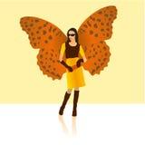 时髦的蝴蝶夫人 库存例证