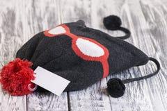 时髦的被编织的帽子 图库摄影