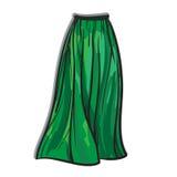 时髦的裙子模型手拉的传染媒介例证 库存图片