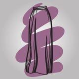 时髦的裙子模型手拉的传染媒介例证 免版税库存照片