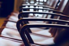 时髦的金属椅子把手被隔绝的对象照片 免版税图库摄影