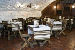 时髦的餐馆 免版税库存照片