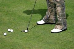 时髦的高尔夫球 库存图片