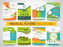 时髦的医疗飞行物、模板或者小册子收藏 免版税图库摄影