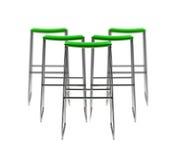 时髦的绿色自助食堂椅子 库存图片