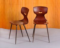 时髦的bentwood设计师椅子 免版税图库摄影
