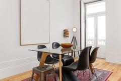 时髦的Dinning室 免版税库存照片