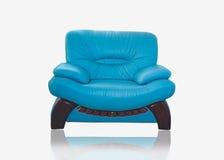 时髦皮革的沙发 免版税库存照片