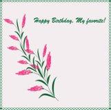 时髦看板卡的问候 生日快乐,我的喜爱 免版税库存照片