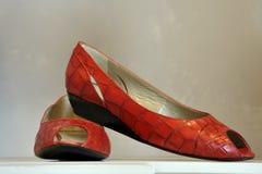 时髦红色的鞋子 免版税库存照片