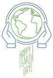 时髦线世界地球日的设计横幅 库存图片