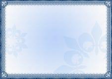 时髦蓝色典雅的框架 免版税库存照片