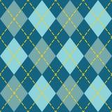 时髦蓝色argyle无缝的样式背景 免版税图库摄影