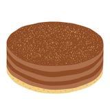 时髦行家乳酪蛋糕或巧克力饼在平的样式 现代 库存图片