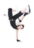 时髦霹雳舞的舞蹈演员 免版税图库摄影