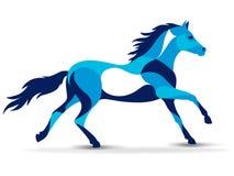 时髦风格化例证,马,线传染媒介剪影, 库存照片
