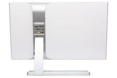 时髦,现代LCD计算机显示器,背面图 图库摄影