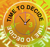 时刻决定犹豫不决手段的选择和选择 免版税库存照片