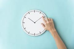 时间准时第二个详细的小时概念 库存图片