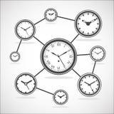 时间同步图-传染媒介例证 免版税图库摄影