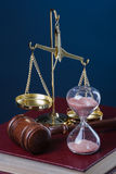 时间和正义 库存图片