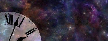 时间和空间网站横幅 免版税图库摄影