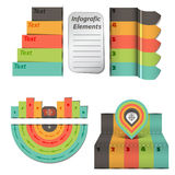 时间安排亲的不同的tooltips -传染媒介 免版税库存图片