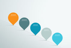 时间安排传染媒介3d Infographic 5 库存照片