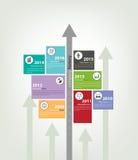 时间安排&里程碑公司历史infographic在传染媒介样式 库存照片