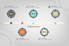 时间安排&里程碑在infographic目标的题材 图库摄影