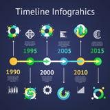 时间安排infograhics 图库摄影