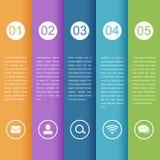 时间安排infographic企业模板 免版税图库摄影