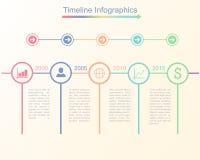 时间安排infographic企业模板 图库摄影