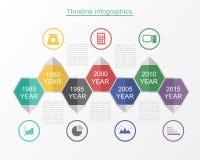 时间安排infographic企业模板v 免版税库存图片