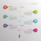 时间安排infographic模板 与象的传染媒介 免版税库存照片