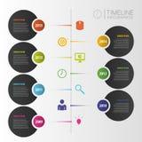 时间安排infographic模板 与象的传染媒介 免版税库存图片