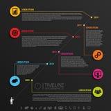 时间安排Infographic设计模板 向量 免版税库存图片