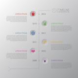时间安排Infographic 与象的企业模板 向量 库存照片