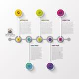 时间安排Infographic 设计现代模板 也corel凹道例证向量 免版税库存照片