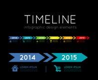 时间安排Infographic 库存图片
