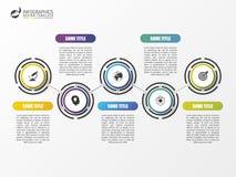 时间安排infographics模板 五颜六色的现代设计 向量 免版税图库摄影