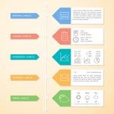 时间安排Infographics设计模板 免版税库存照片