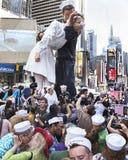 时代广场亲吻在 免版税库存照片