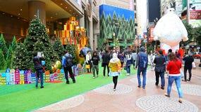 时代广场圣诞节装饰,香港 免版税库存图片